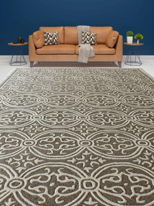 Carpetmantra Chikoo Modern Carpet 6ft X 9ft