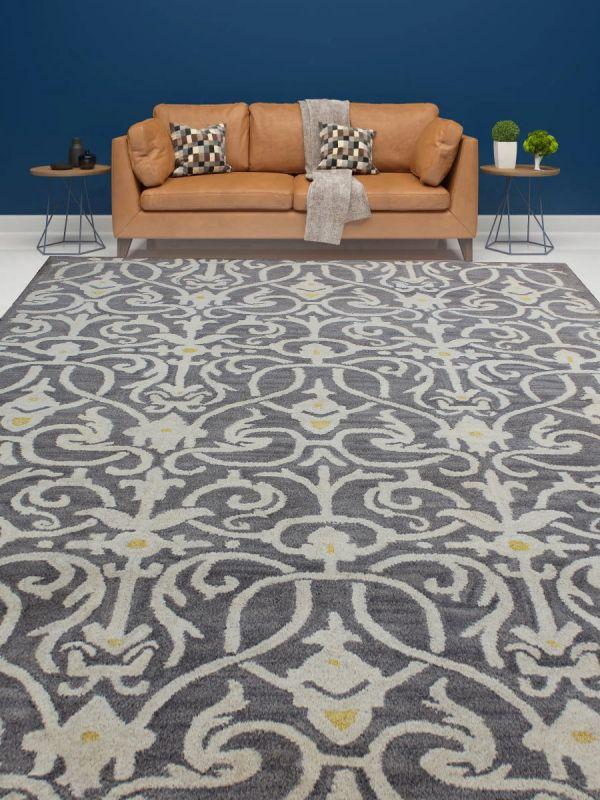 Carpetmantra Grey Modern Carpet 5ft X 7.5ft