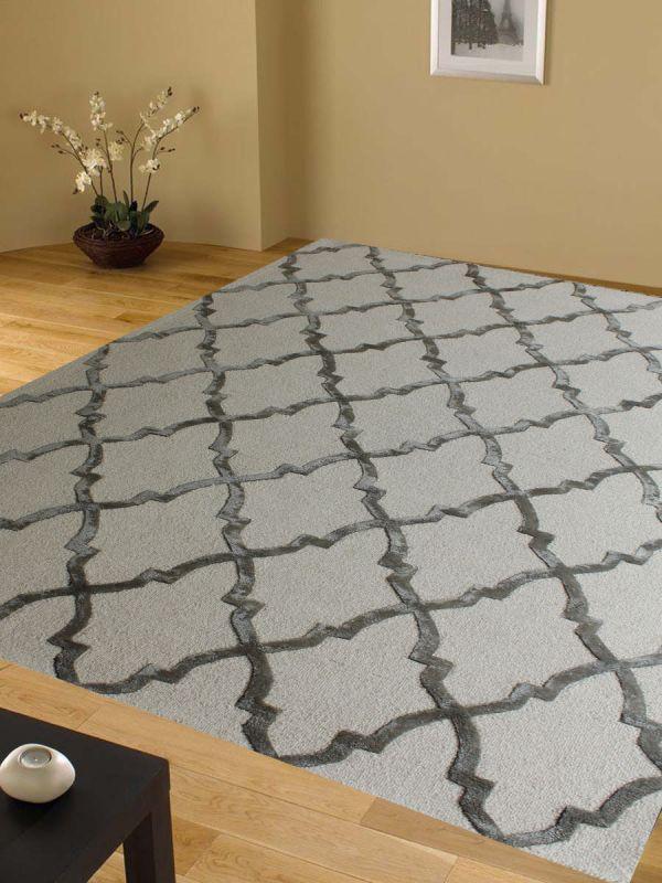 Carpetmantra White Modern Carpet