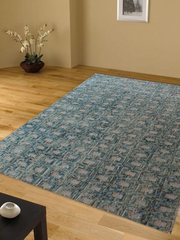 Carpetmantra Turquoise Modern Carpet 5ft x 7ft