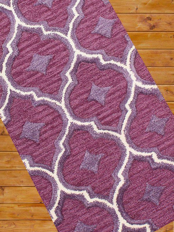 Carpet Mantra Purple Runner Carpet