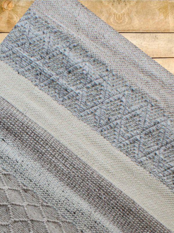 Carpetmantra Hand Woven Natural Grey Carpet 5ft X 8ft