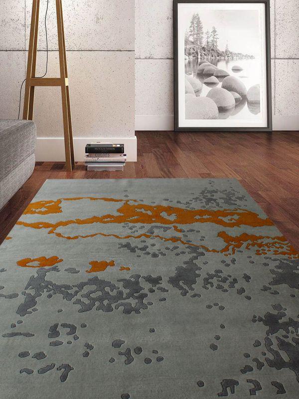 Carpetmantra Hand knotted Designer Multi Carpet 6ftx9ft
