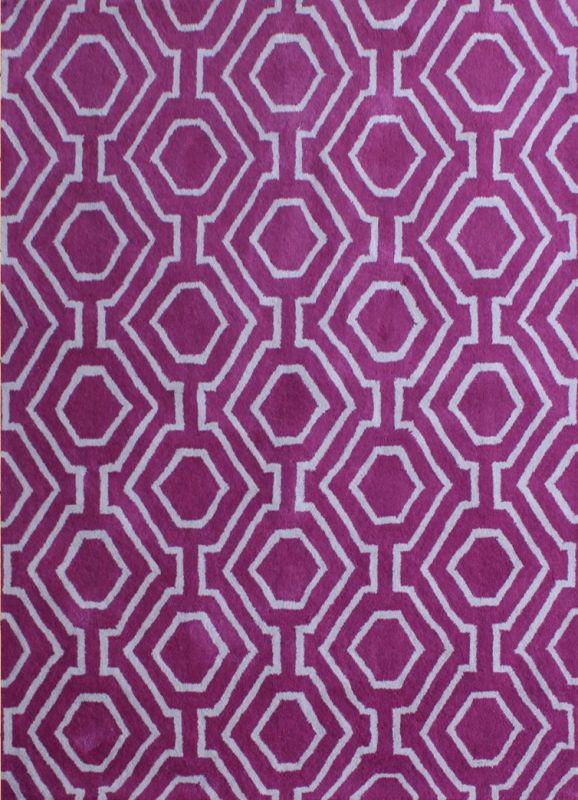 Carpet Mantra Purple Modern Carpet 4.0ft x 5.6ft
