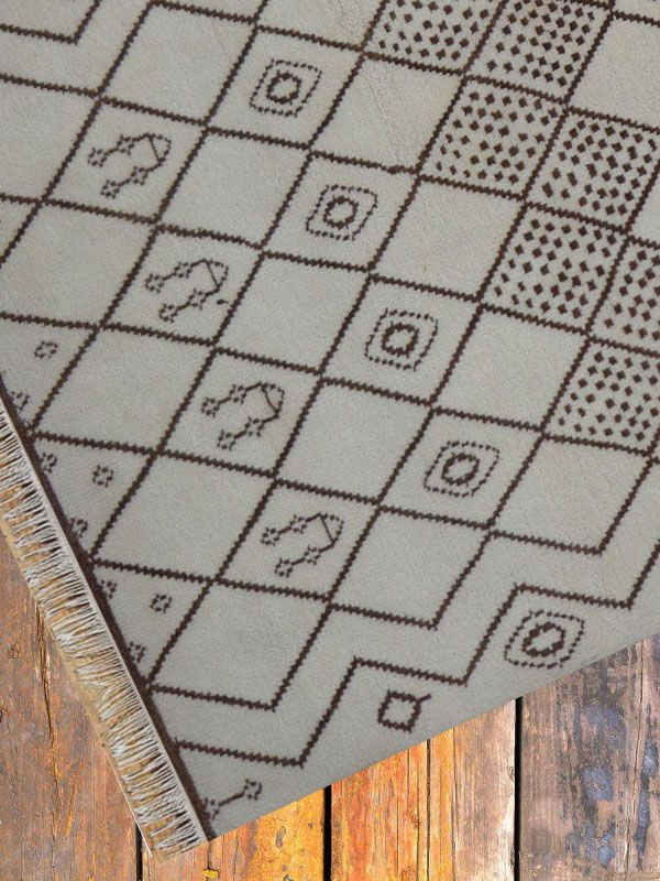 Hand Knotted Moroccan Carpet 5.7ft X 7.10ft