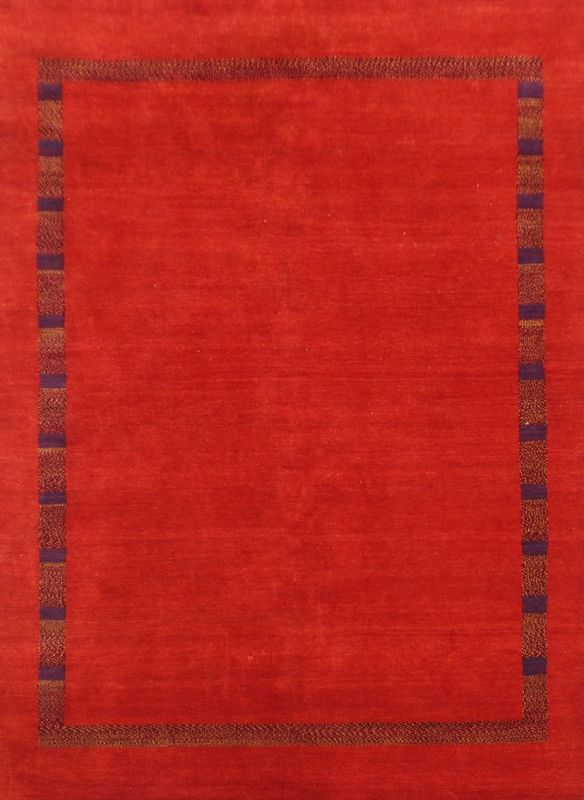 Carpetmantra Hand Knotted Gabbeh Carpet 5.7ft X 7.10ft