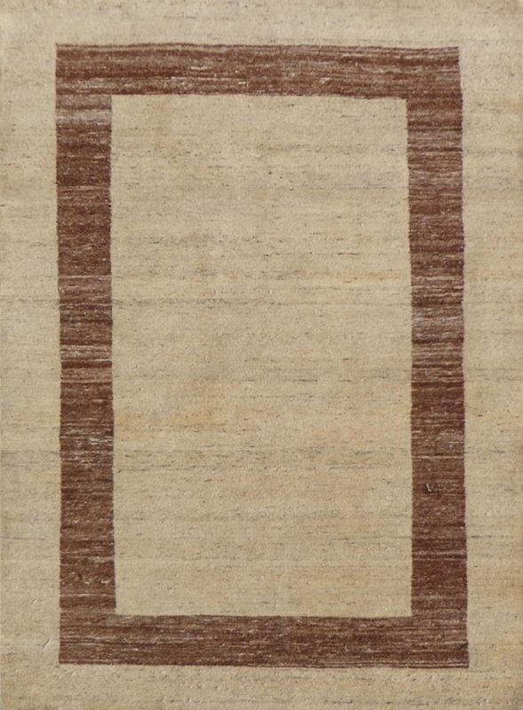 Carpetmantra Hand Knotted Gabbeh Carpet 4ft X 6ft
