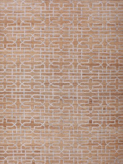 Carpetmantra Beige Modern Jute Carpet 5.7ft X 7.10ft