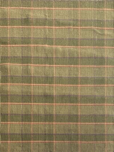 Carpetmantra Green Jute Carpet 4.6ft X 6.6ft