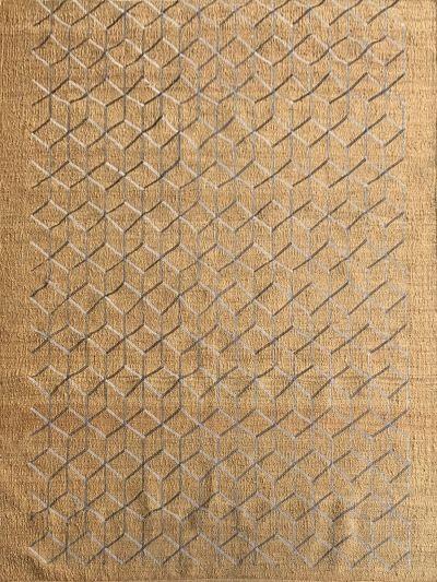 Carpetmantra Gold Jute Carpet 5.10ft X 6.10ft