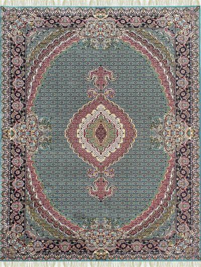 Carpetmantra Irani Traditional Turquoise Carpet 4.0ft X 6.0ft