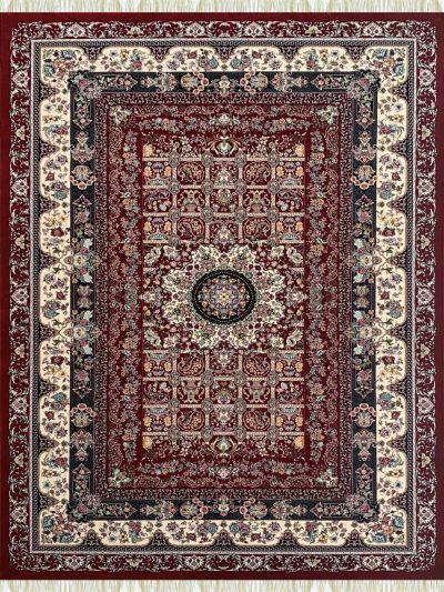 Carpetmantra Irani Traditional Red Carpet 4.0ft X 6.0ft