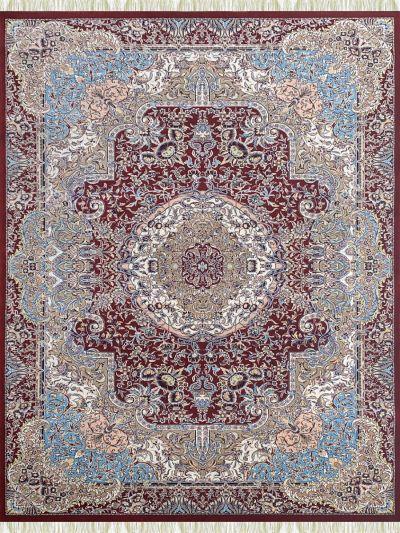 Carpetmantra Irani Red Floral Carpet 4.0ft X 6.0ft