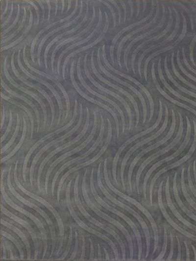 Carpetmantra Grey Self Design Carpet 5.7x 7.10