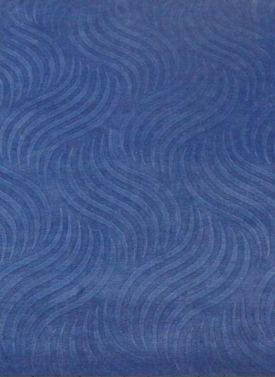 Carpetmantra Blues Self Viscose Carpet 5.7 x 7.10