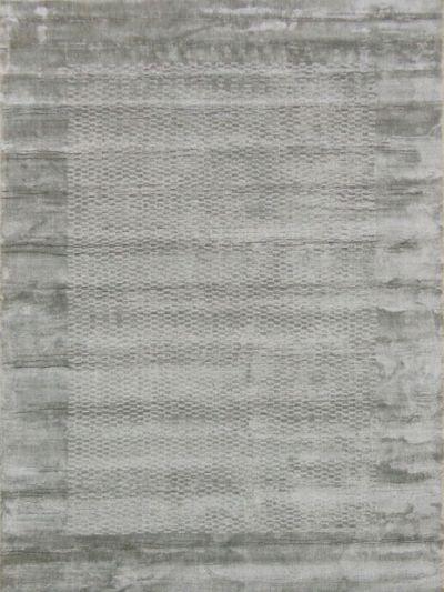 Carpetmantra GREY viscose carpet  5.4 ft x 7.8 ft