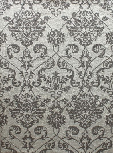 Carpet Mantra White Floral Carpet 5.3ft x 7.7ft