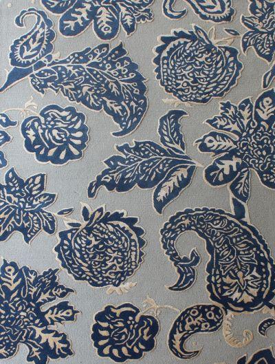 Carpetmantra Blue Floral Carpet 6ft X 9ft