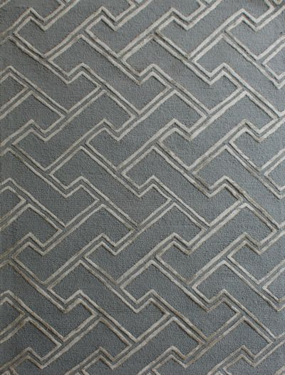 Carpetmantra Grey Modern Carpet 4ft X 6ft