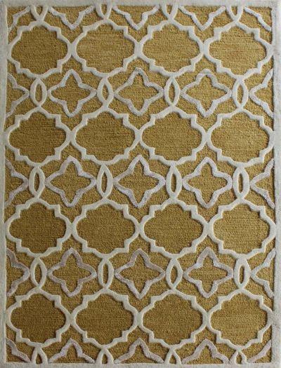 Carpetmantra Gold Modern Carpet 4ft X 6ft
