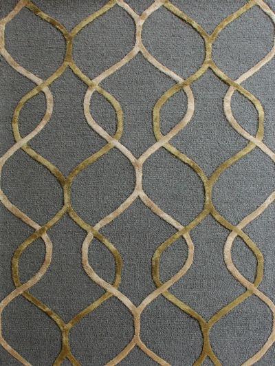 Carpetmantra Dark Grey Modern Carpet 4ft X 6ft