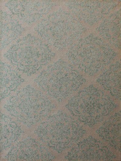 Carpetmantra Green beige Modern Carpet 5ft x 8ft