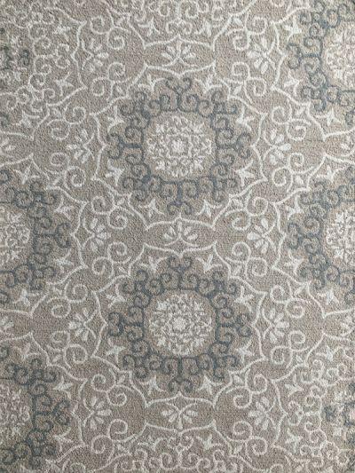 Carpetmantra Beige Floral Carpet  5ft x 7ft