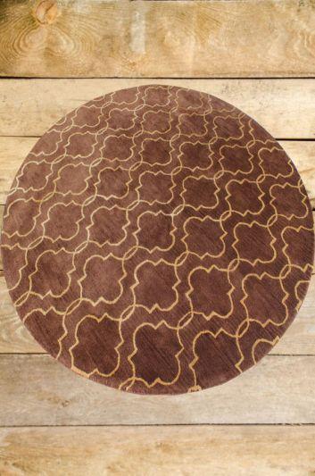 Carpetmantra Brown Modern Carpet 8ft Round
