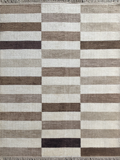 Carpetmantra Handknotted Bamboo Silk Multi Carpet 5.7ft X 7.10ft