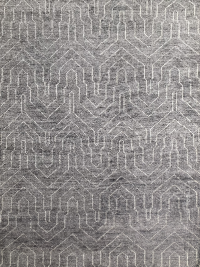 Carpetmantra Handknotted Bamboo Silk Charcoal Carpet