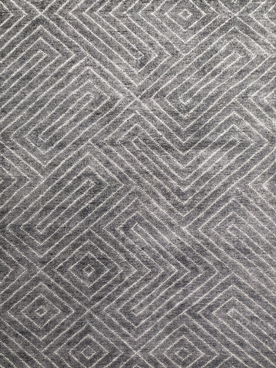 Carpetmantra Handknotted Bamboo Silk Grey Carpet 5.7ft X 7.10ft