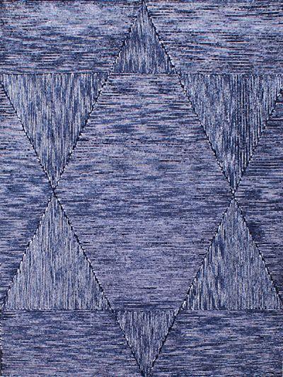 Carpetmantra Black Modern Carpet  4.6ft x 6.6ft