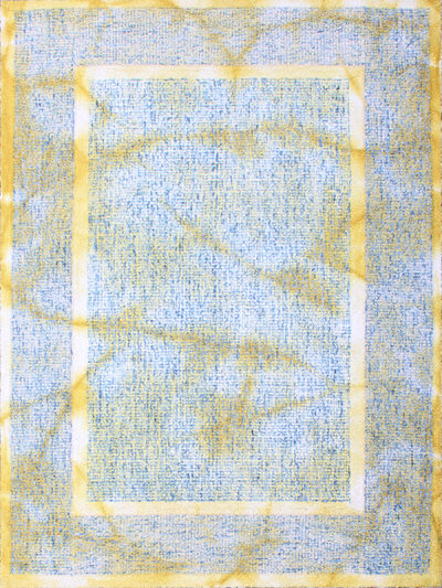 Carpetmantra Yellow Abstract Carpet  4.6ft x 6.6ft