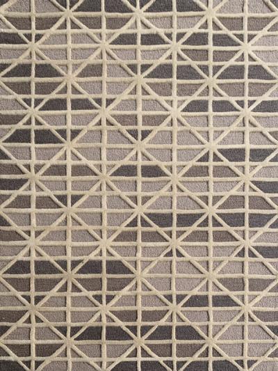 Carpetmantra  handmade Beige brown Modern Carpet 4.6ft X 6.6ft