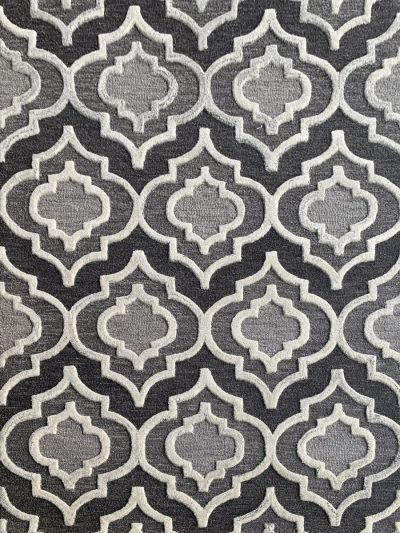Carpetmantra Grey Trellis Carpet 4.0ft X 6.0ft