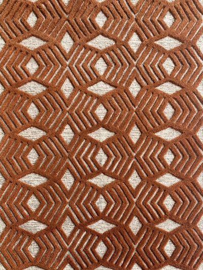 Carpetmantra Rust Modern Carpet 4.0ft X 4.6ft
