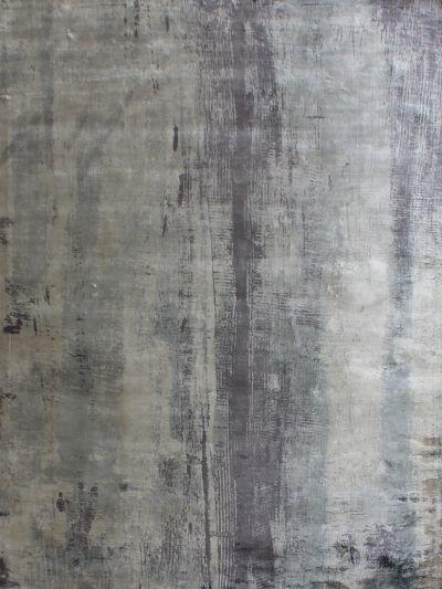 Carpetmantra  Grey viscose carpet  5.3ft x 7.7ft