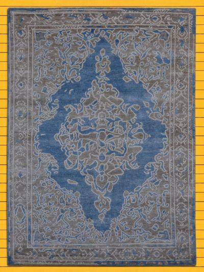 Carpetmantra Hand knotted Bamboo Silk Designer Carpet 5.7ftx7.9ft