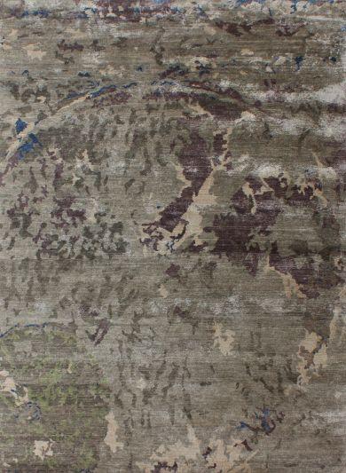 Carpetmantra Hand knotted Bamboo Silk Designer Carpet 5.5ftx 8.3ft