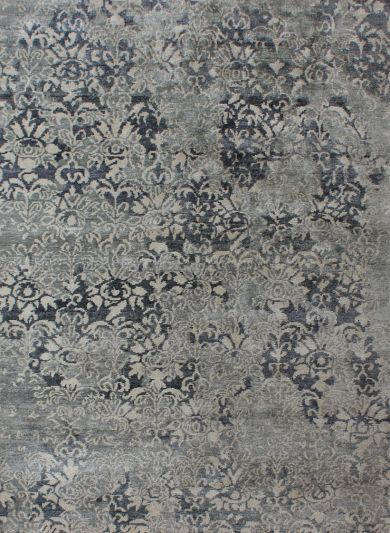 Carpetmantra Hand knotted Bambo Silk Designer Carpet 5.7ftx7.10ft
