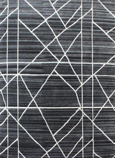 Carpetmantra Hand knotted Black Designer Carpet 4.1ftx5.5ft