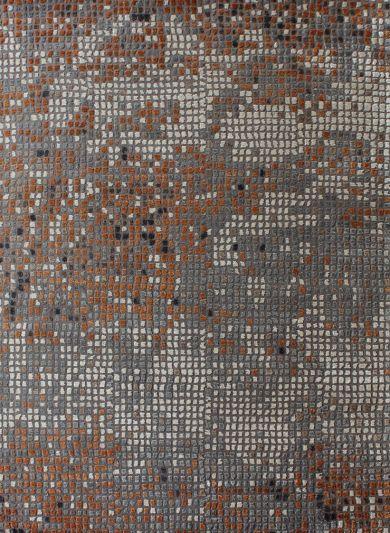 Carpetmantra Hand knotted Bamboo Silk Multi Designer Carpet 5.0ftx7.0ft