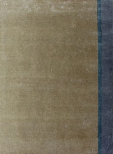 Carpetmantra Hand knotted Designer Bamboo Silk Beige Carpet 5.3ft X 6.10ft