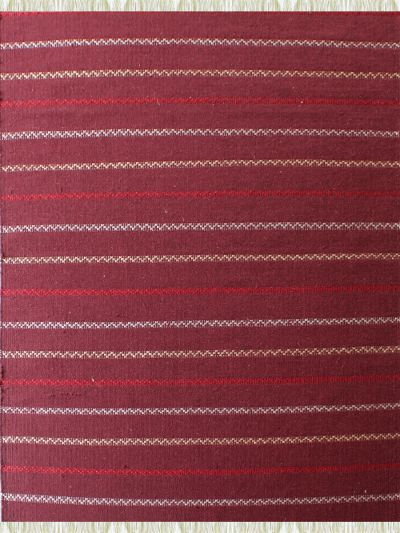 Carpetmantra Flatweave Durrie Red Carpet 4.6ft x 6.6ft