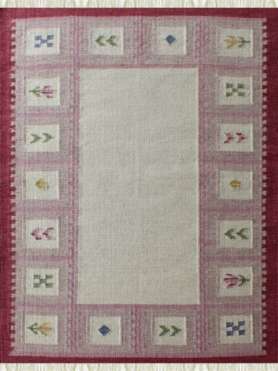 Carpetmantra Flatweave Durrie  Red Carpet 4ft X 6ft