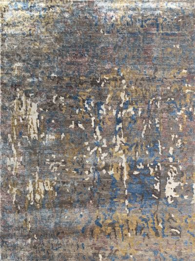 Carpetmantra Hand knotted Bamboo Silk Multi Carpet 6ft x 9ft
