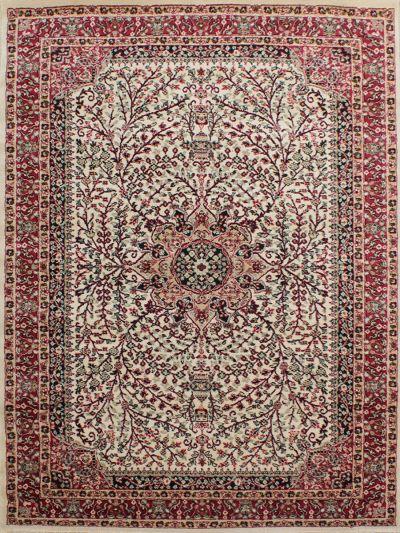 Carpetmantra Persian Beige Floral Carpet 4ft x 6ft