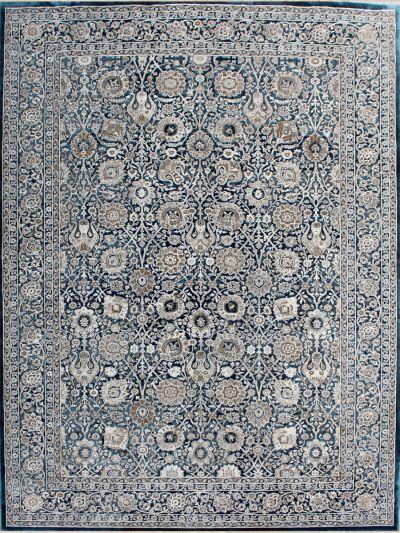 Carpetmantra Persian Blue Floral Carpets