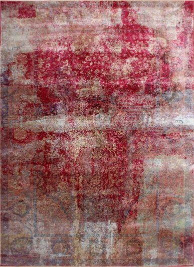 Carpetmantra  RED multi Abstract Carpets