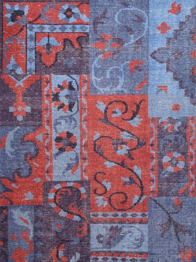 Carpetmantra Handknotted Multi Transitional Carpet 4.6ft X 6.6ft